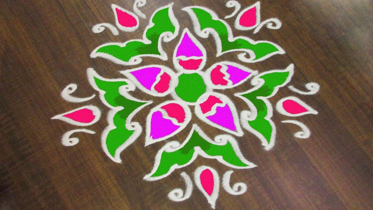 #293 - Sankranthi Muggulu Without Dots | Easy Rangoli ...