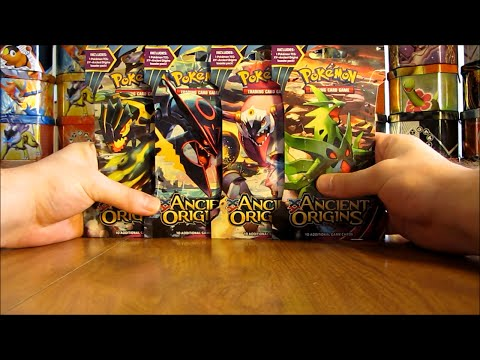4 Ancient Origins Pokemon Booster Pack Opening (Great Pull!)
