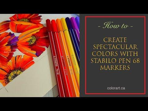 Create spectacular colors with Stabilo pen 68