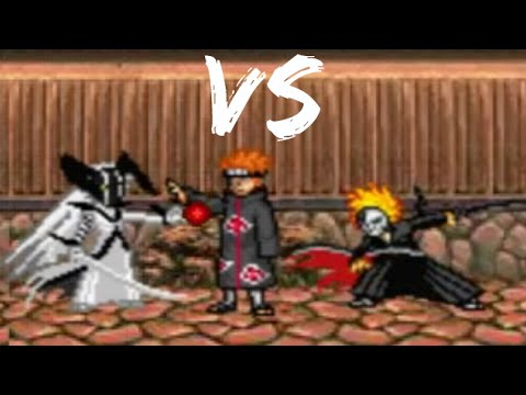 Ichigo Kurosaki (All Forms) vs Pain - Bleach vs Naruto 2.5 Team Battle
