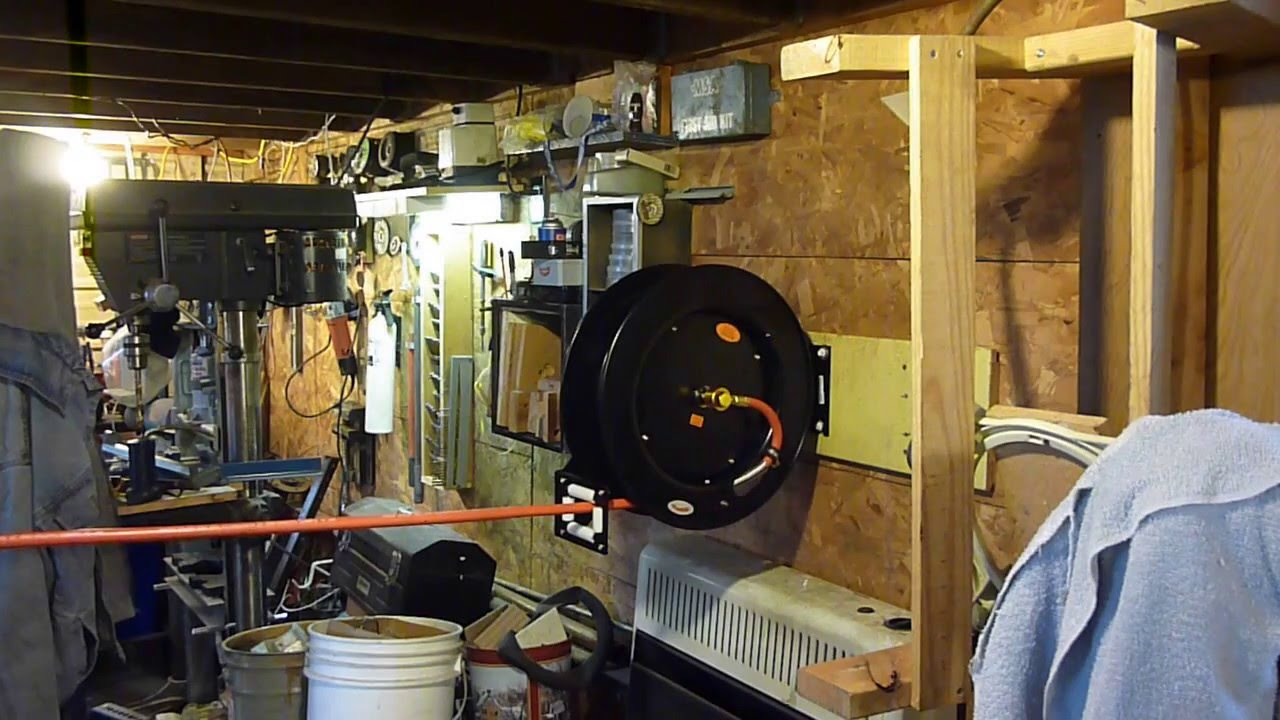 MOUNTING HARBOR FREIGHT AIR HOSE REEL (the good bad and ...