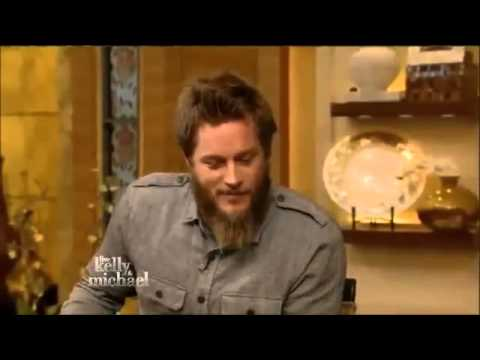 "TRAVIS FIMMEL  Live! With Kelly and Michael  movie ""Vikings"""