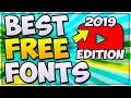 BEST FREE FONTS For Graphic Design AND YouTube! 2019 (THUMBNAILS, BANNERS, AND MORE!!)