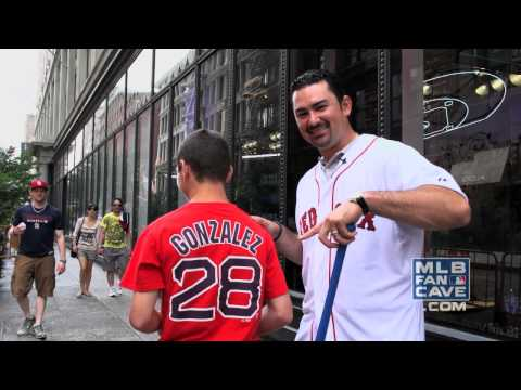 Adrian Gonzalez Hits Grounders to Fans