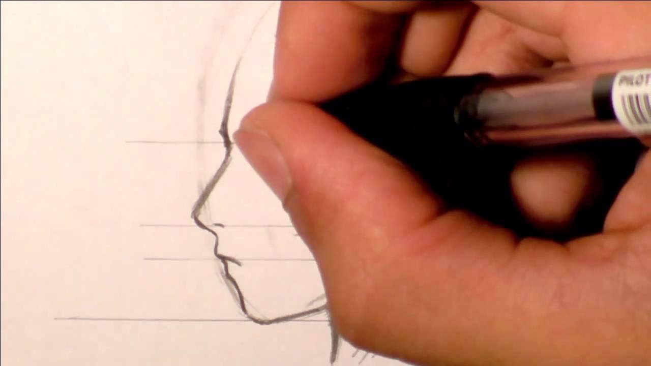 tutorial disegnare profilo volto manga richardhtt youtube