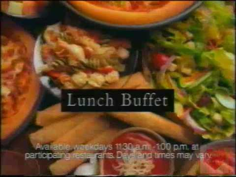 Pizza Hut Lunch Buffet Television Commercial 1994