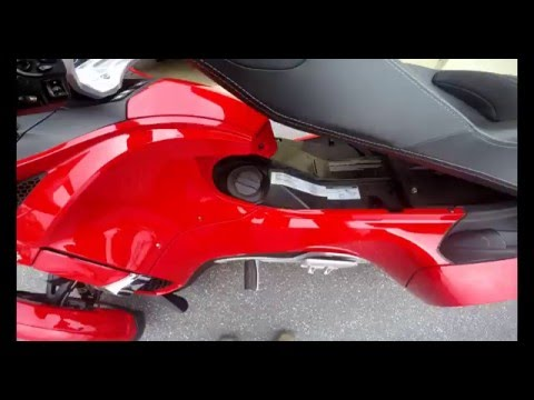 How to put gas in your Can am Spyder: srkcycles.com