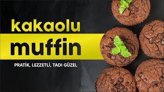 Kakaolu Muffin Tarifi, Çay Demlenene Kadar Hazır Olur, Hamur işi Tarifi, muffin recipe