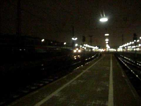 "Night train ""Chopin"" with 4 Russian sleeping cars leaving Wien Westbf"