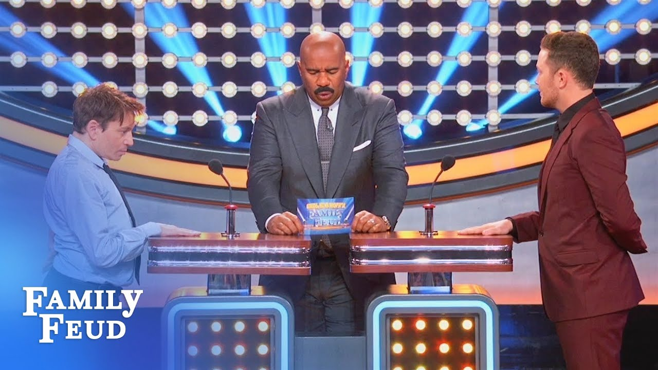 Chris Kattan's podium PROBLEM   Celebrity Family Feud