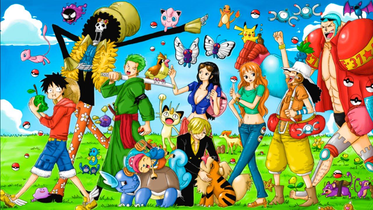 crossover one piece x pokémon o time dos mugiwaras youtube