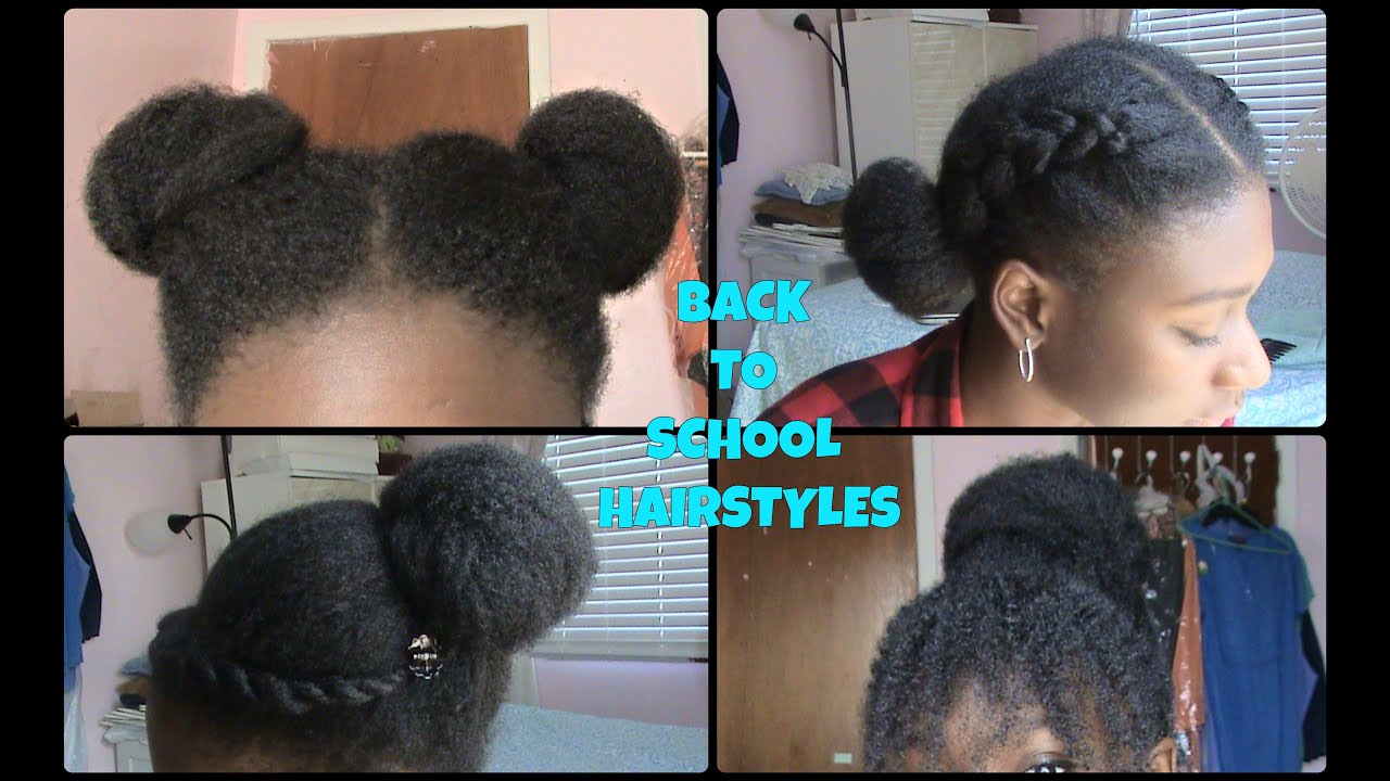 EASY Back to School Hairstyles (NATURAL HAIR) - YouTube