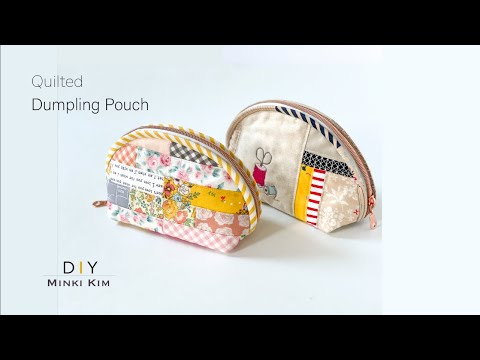 How to make Scrapy Pouch / Zipper Pouch / 조개파우치 / Quilted bag / DIY sewing / Dumpling Pouch/ Sewing
