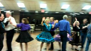 Square Dance in the Woodlands, Texas 2012 at Woodland Stars with Tom Roper caller