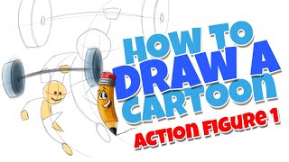 How to draw a cartoon stick figure lesson 1 | step by step