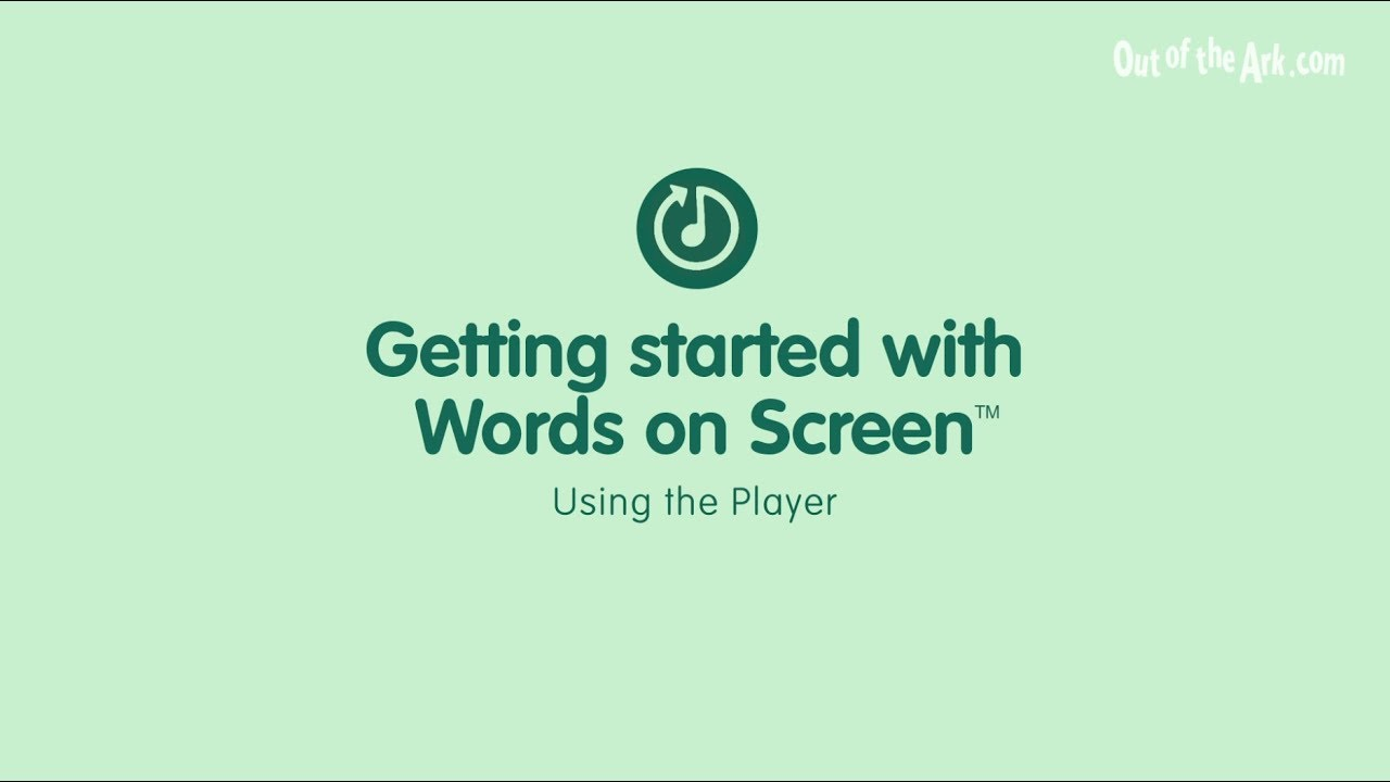 About Words on Screen | Out of the Ark Music