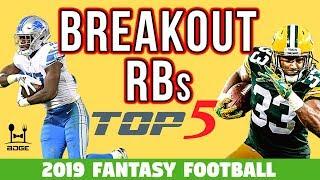 Top 5 Breakout Running Backs in 2019 Fantasy Football