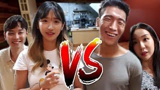 Kitchen battle with Dan, Tyongeee and Jin