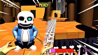 Скачать THE TRUE 3D SANS BATTLE 3DTALE Sans Fight Undertale In 3D