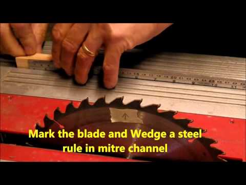 Table saw Fence Alignment the easy way