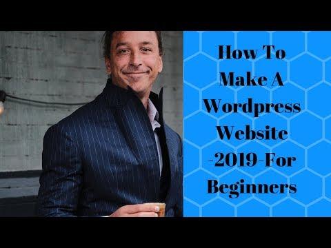 WordPress Website For Beginners-2019-Tutorial thumbnail