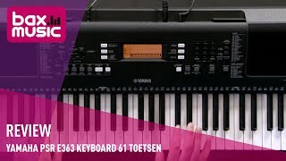 Yamaha PSR E363 keyboard 61 toetsen - Review