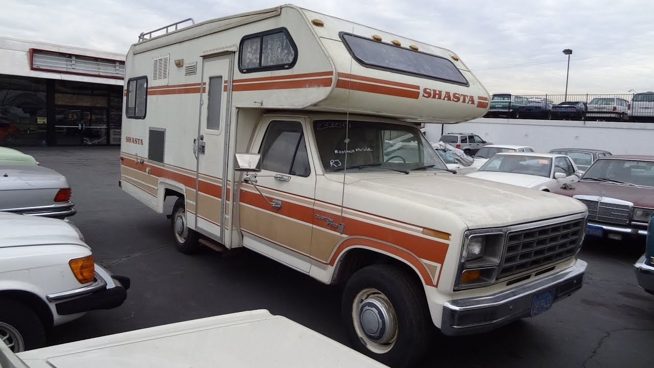 Shasta RV Chinook Motorhome Class C Or B Camper Vintage Ford F 150 300 Straight 6 Preview