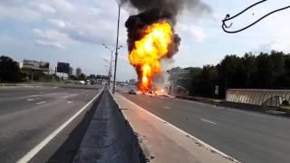 Взрыв 119 баллонов с пропаном на дороге(, 2016-01-10T13:41:41.000Z)