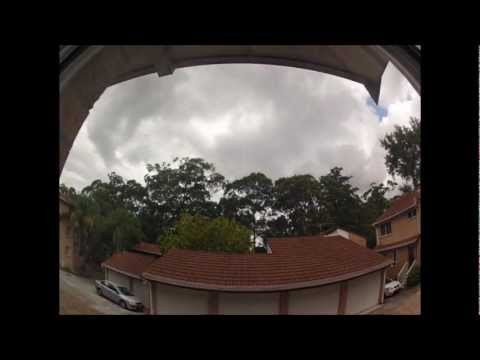Today's weather from my place in the burbs in Sydney, NSW, Australia 05-04-2013