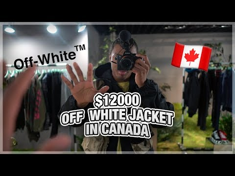 The $12000 OFF WHITE Jacket in Canada.
