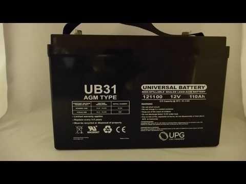 12V 110Ah Group 31 - Dual Post Threaded & Auto - SLA/AGM Battery - UB31