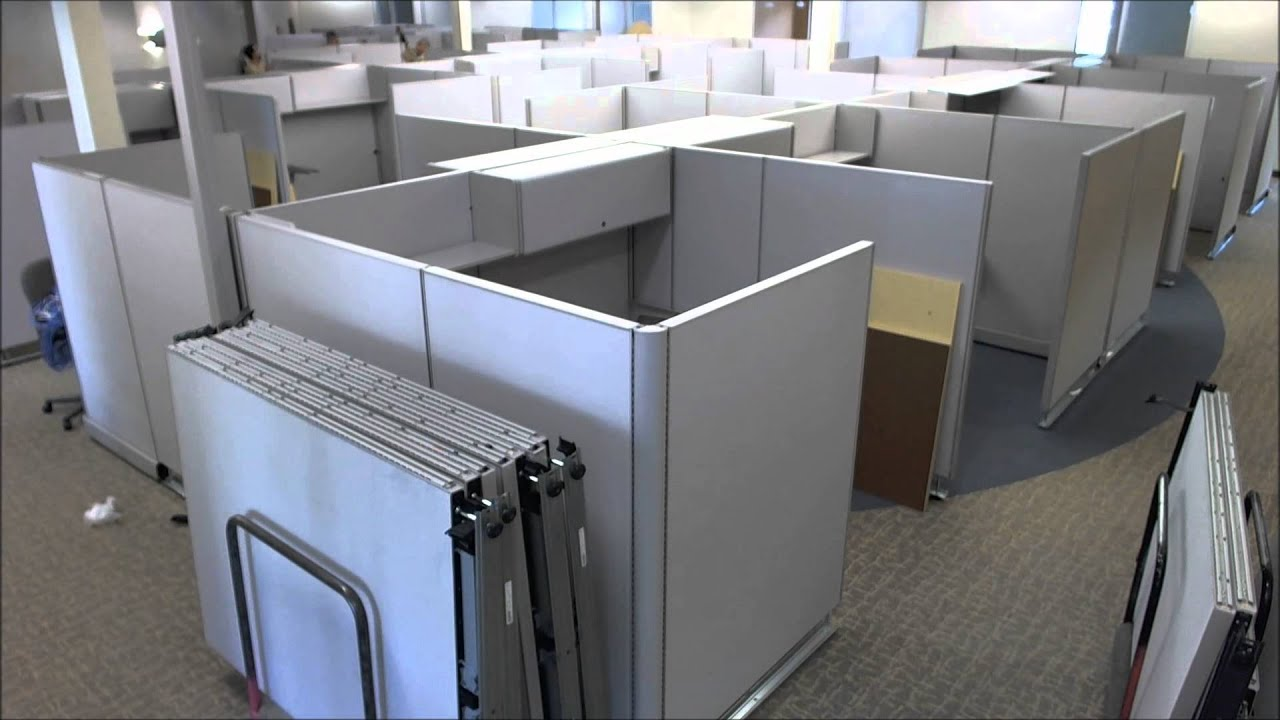 cubicle installation time lapse youtube. Black Bedroom Furniture Sets. Home Design Ideas