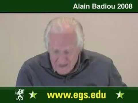 Alain Badiou. What Is Love. Sexuality And Desire. 2008. 3/12