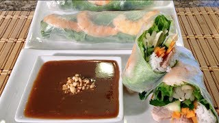 How To Make Vietnamese Summer Spring Rolls-goi Cuon-peanut Sauce-asian Food Recipes