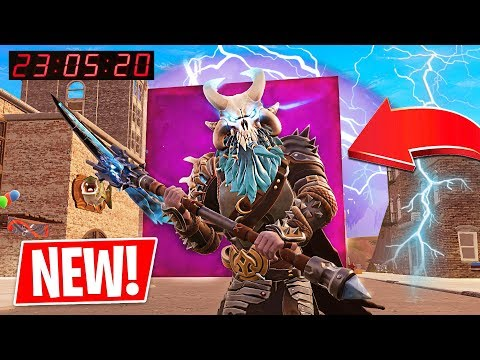 Fortnite CUBE is in TILTED TOWERS!! Fortnite *NEW* Port a Fortress & Spiky Stadium!