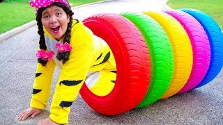 Color Song Nursery Rhymes with Color Tires
