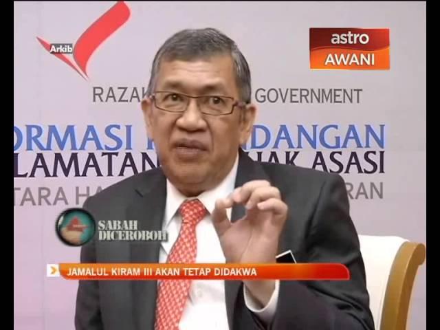 Jamalul Kiram lll akan tetap didakwa
