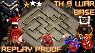 TH 9 (TOWN HALL 9)  ANTI 2 STARS WAR BASE