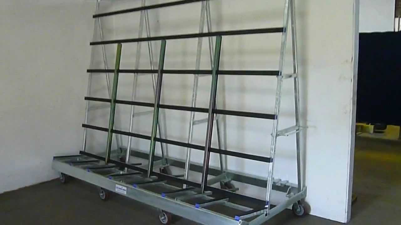 A Frame Trolley The Glass Racking Company Large L Frame Trolley