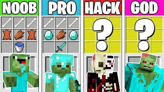 Minecraft Battle: ZOMBIE MUTANT CRAFTING! NOOB vs PRO vs HACKER vs GOD in Minecraft Animation