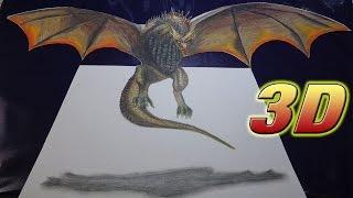 Drawing Dragon 3D Daenerys Targaryen (Dibujando el Dragon de Daenerys )NITO OCHOA