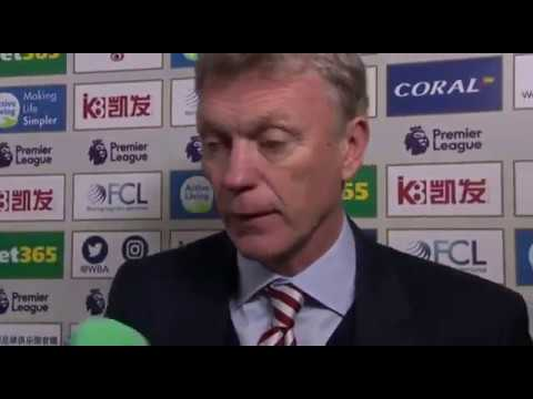 West Brom 2 - 0 Sunderland- Tony Pulis And David Moyes Post Match Interview