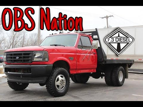 1997 Ford F350 XL 7.3 Powerstroke Cab and Chassis 1 ton Dually, Flat bed ***SOLD***