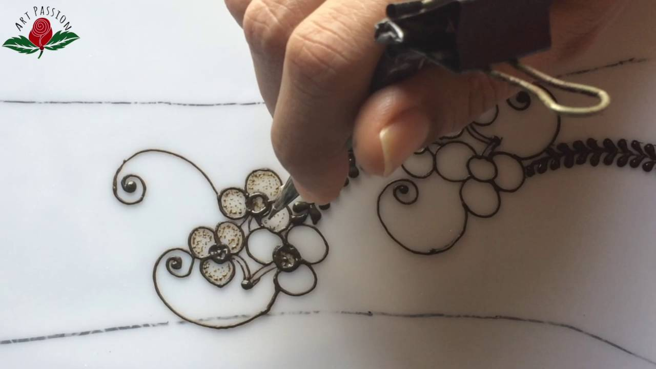 Tutorial 16 How To Draw Vines And Simple Gulf Style Henna Mehendi