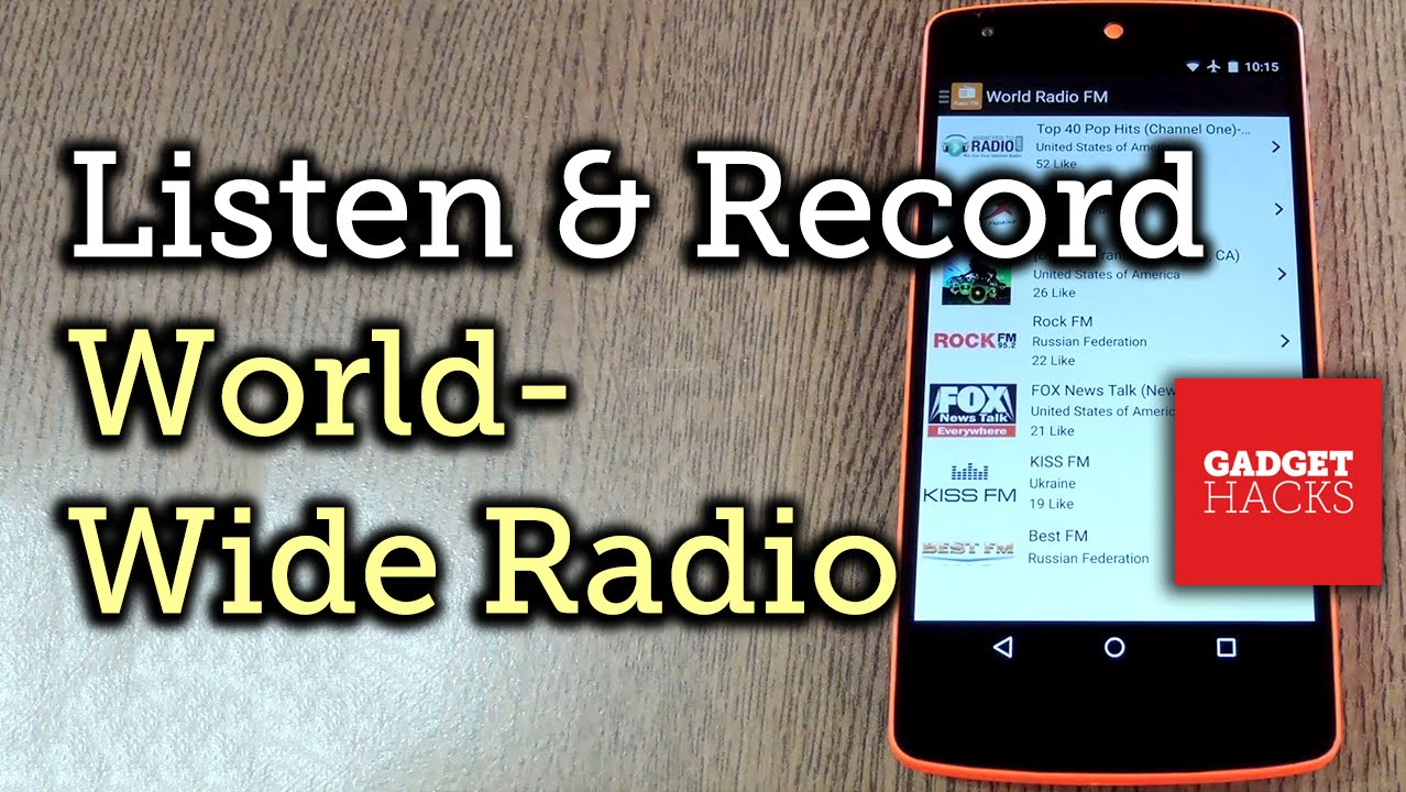 Listen To & Record Thousands of Radio Stations on Android [How To]