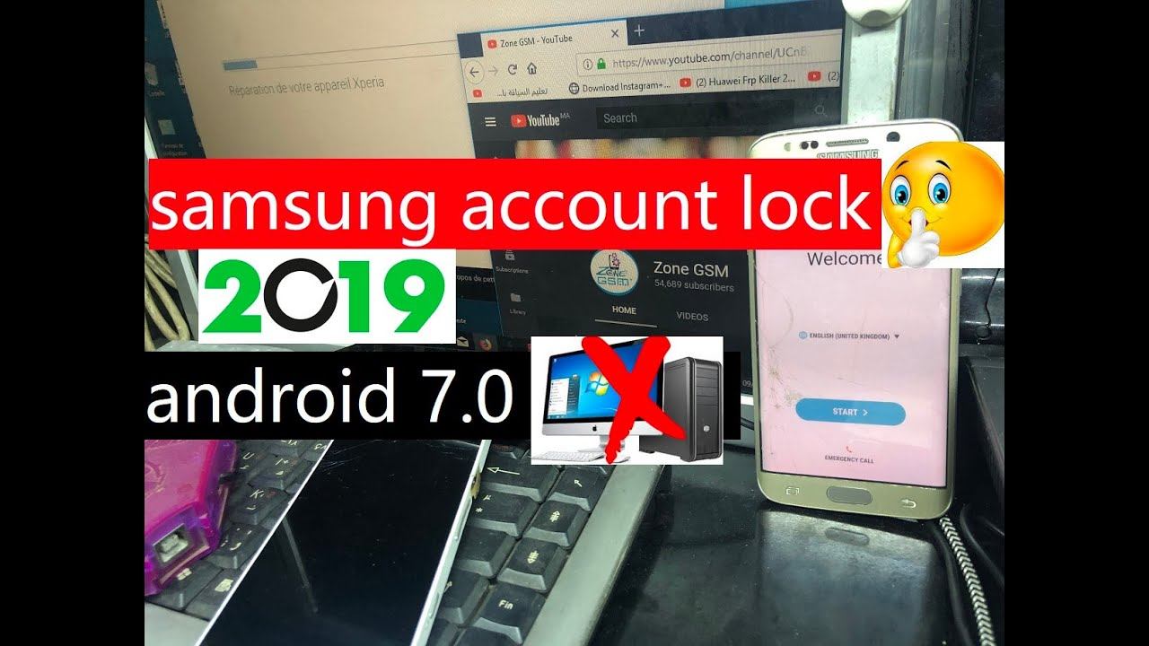 How to bypass samsung account lock / reactivation lock android 7 0 on s6 /  s6Edge  Best and easy way