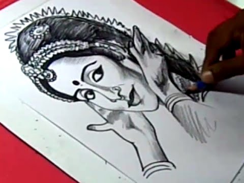 How To Indian Classical Dancer Alarmel Valli Drawing Youtube