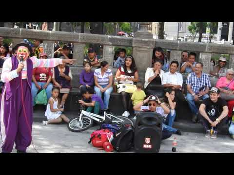 payasos de la Alameda ciudad de Mexico parte 1