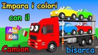 Impara i colori con il camion bisarca - AlexKidsTV