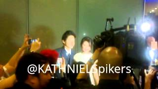 KathNiel at the Star Magic Ball 2013 Red Carpet -- Part1